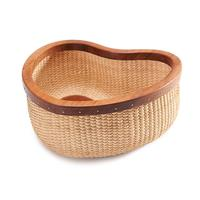 Rattan Heart shaped Desktop Storage Basket Fruit Basket Jewelry Organizer Storage Box Eco friendly Light Weight For Fruit, Dinne