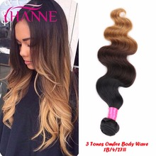 Hanne Hair 7A Soft Ombre Hair Weave 1 Piece Only Ombre Brazilian Hair Body Wave Ombre Colored Hair Body Wave Fast Free Shipping