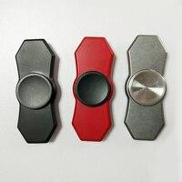 All Steel Finger Tri Spinner Fidget Toys Black Silver EDC Hand Spinner Metal Fidget Spinner And