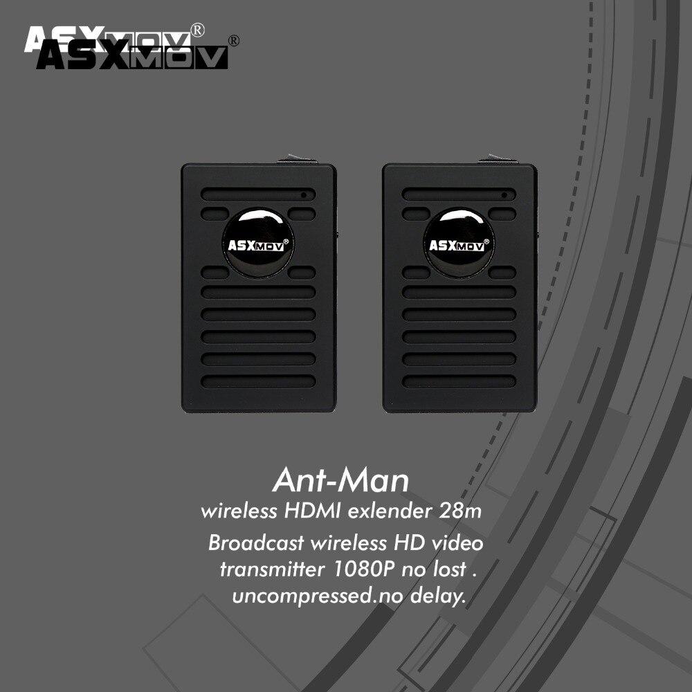 ASXMOV 28 м Беспроводной видео передатчик приемник адаптер для монитора 480I/480 P/720 P/1080i/ 1080 P