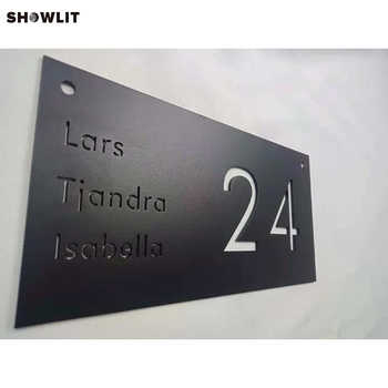 Powder Coated Black House Name Plates With House Number - DISCOUNT ITEM  0% OFF All Category