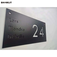 Power Coated Black House Name Plates With House Number