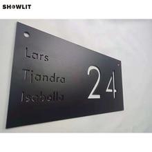Таблички с изображением черного дома и номером дома
