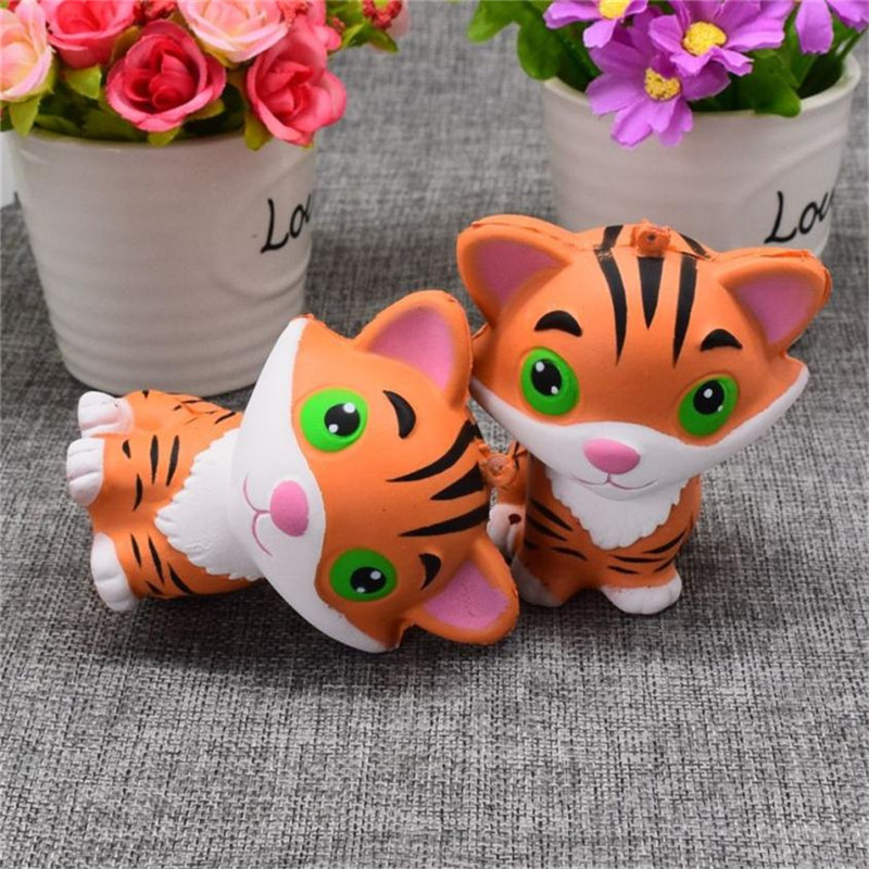 Squishy Mini CuteTiger Squeeze Slow Rising Squishies Straps Cream Scented Cure Decor Fun Amazing Gifts Toys for Kids Children*20