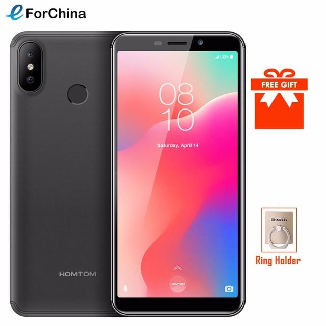 "HOMTOM C1 5.5""18:9 Full Display Mobile Phone Android GO MT6580 Quad Core 1GB+16GB Smartphone 13MP Dual Cameras Fingerprint ID"