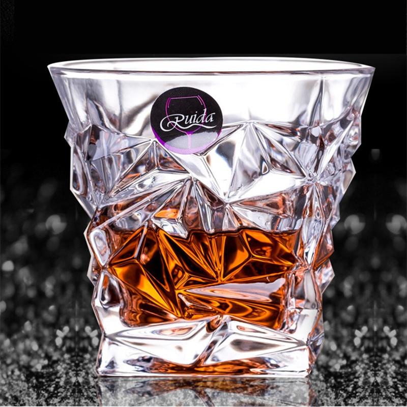 Брендовый бокал для вина, термостойкий прозрачный хрустальный пиво, виски, бренди, водка, чашка с несколькими узорами, посуда для напитков, п...