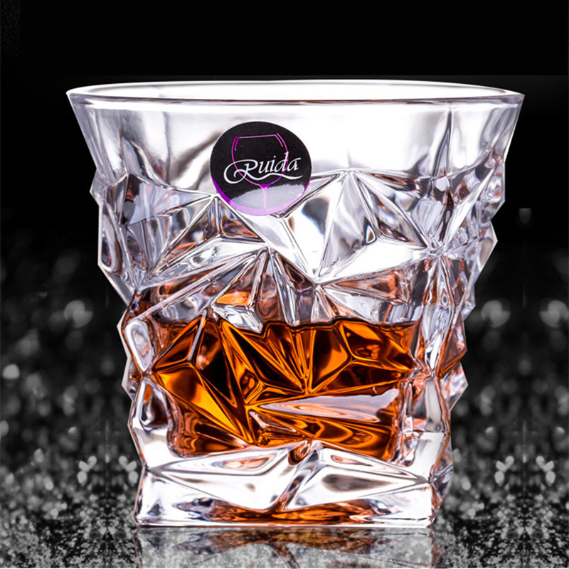 Marca de vidro de vinho sem chumbo resistente ao calor transparente cristal cerveja uísque brandy vodka copo multi padrão drinkware bar presentes