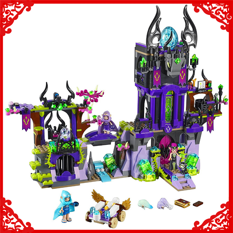 BELA 10551 Elves Series Ragana's Magic Castle Building Block 1023Pcs DIY Educational  Toys For Children Compatible Legoe new lepin 16008 cinderella princess castle city model building block kid educational toys for children gift compatible 71040
