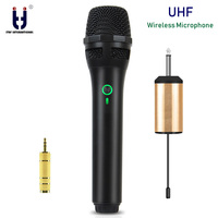 New UHF Wireless Microphone System Handheld Mic UHF Speaker with Portable USB Receiver For KTV DJ Speech Amplifier Recording