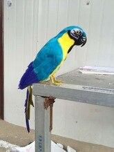artificial bird model colourful blue feathers 43cm parrot handicraft ,home garden decoration gift p2704