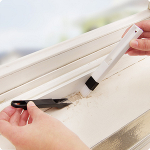 2-in-1 Mini Cleaning Brush with Detachable Dustpan for Window Groove Keyboard Corner Crannies