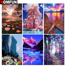 HOMFUN Full Square/Round Drill 5D DIY Diamond Painting beautiful scenery 3D Embroidery Cross Stitch 5D Home Decor Gift homfun full square round drill 5d diy diamond painting deer scenery embroidery cross stitch 5d home decor gift a18124