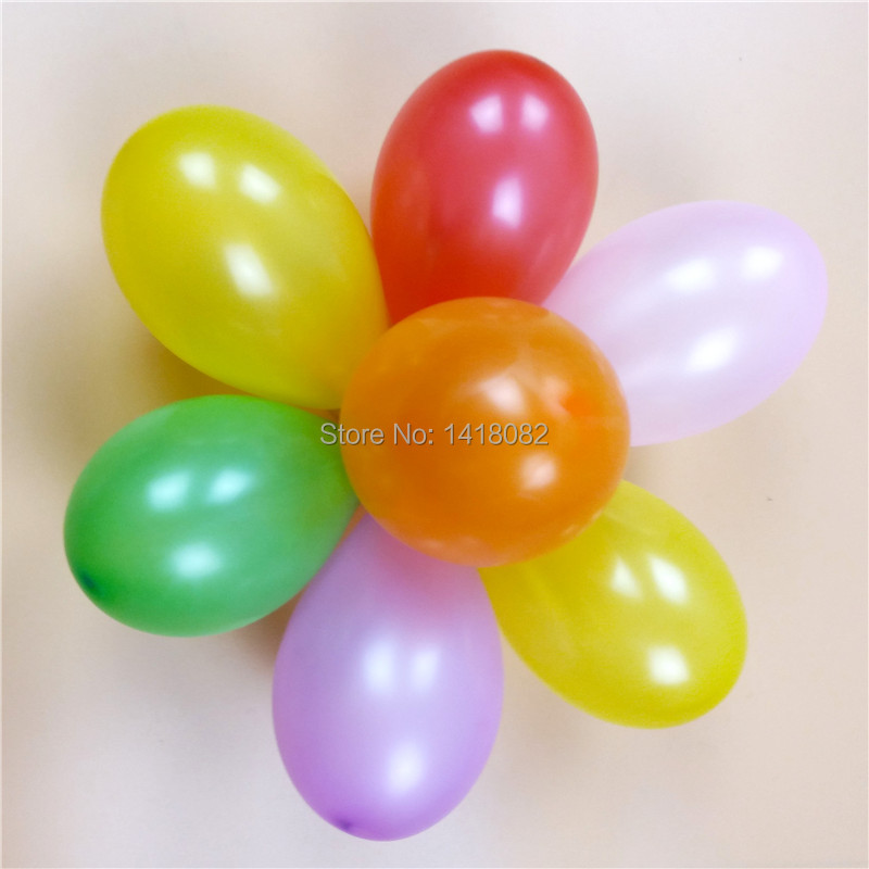 500pcs NO3 mixing small balloons Inflatable water gun can target a small apple ball toy balloon Hot !