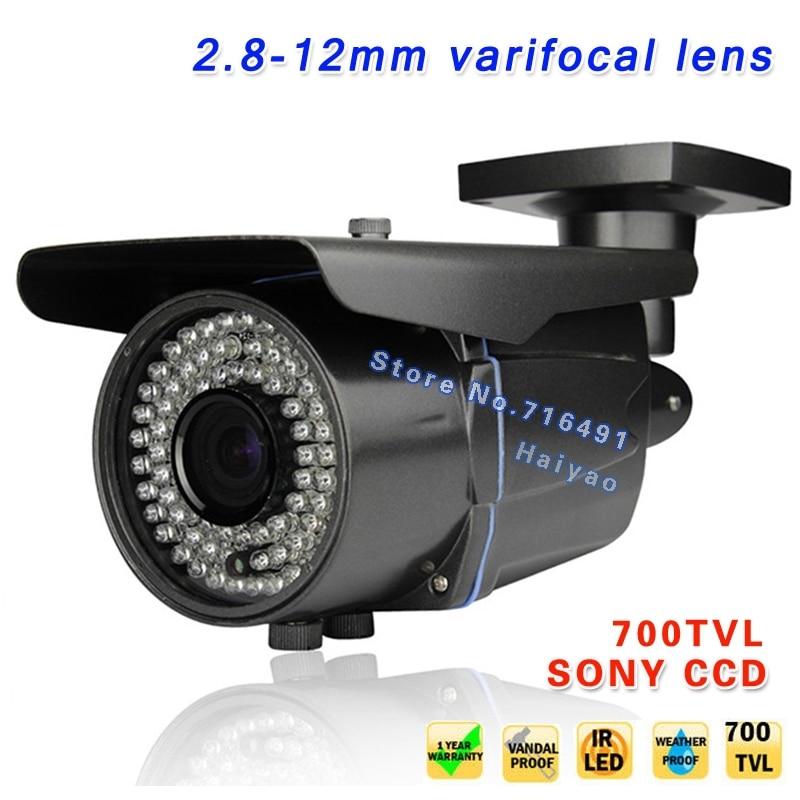 New!700TVL 1/3 Sony Effio CCD CCTV Camera monitors Varifocal lens Outdoor Indoor 2.8-12mm lens IR Leds Surveillance Cameras
