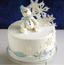 Best Sale 3Pcs Set Snowflake Fondant Cake Decorating Plunger Sugar craft Cutter Mold Tools Christmas Cake