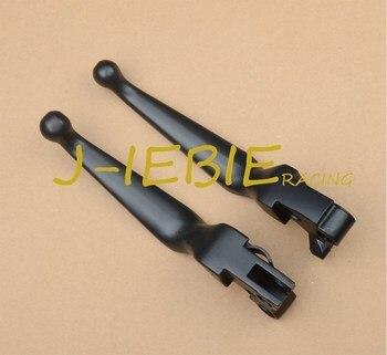 Crânio preto conjunto de alavancas freio embreagem para harley softail dyna sportster road king xl 1200c 883c personalizado