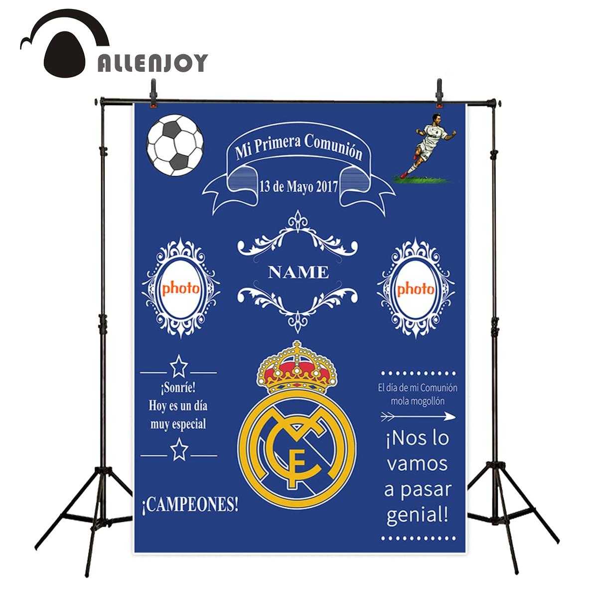 Allenjoy camera photography photocall madrid football Birthday background Custom for Children Photophone photographic