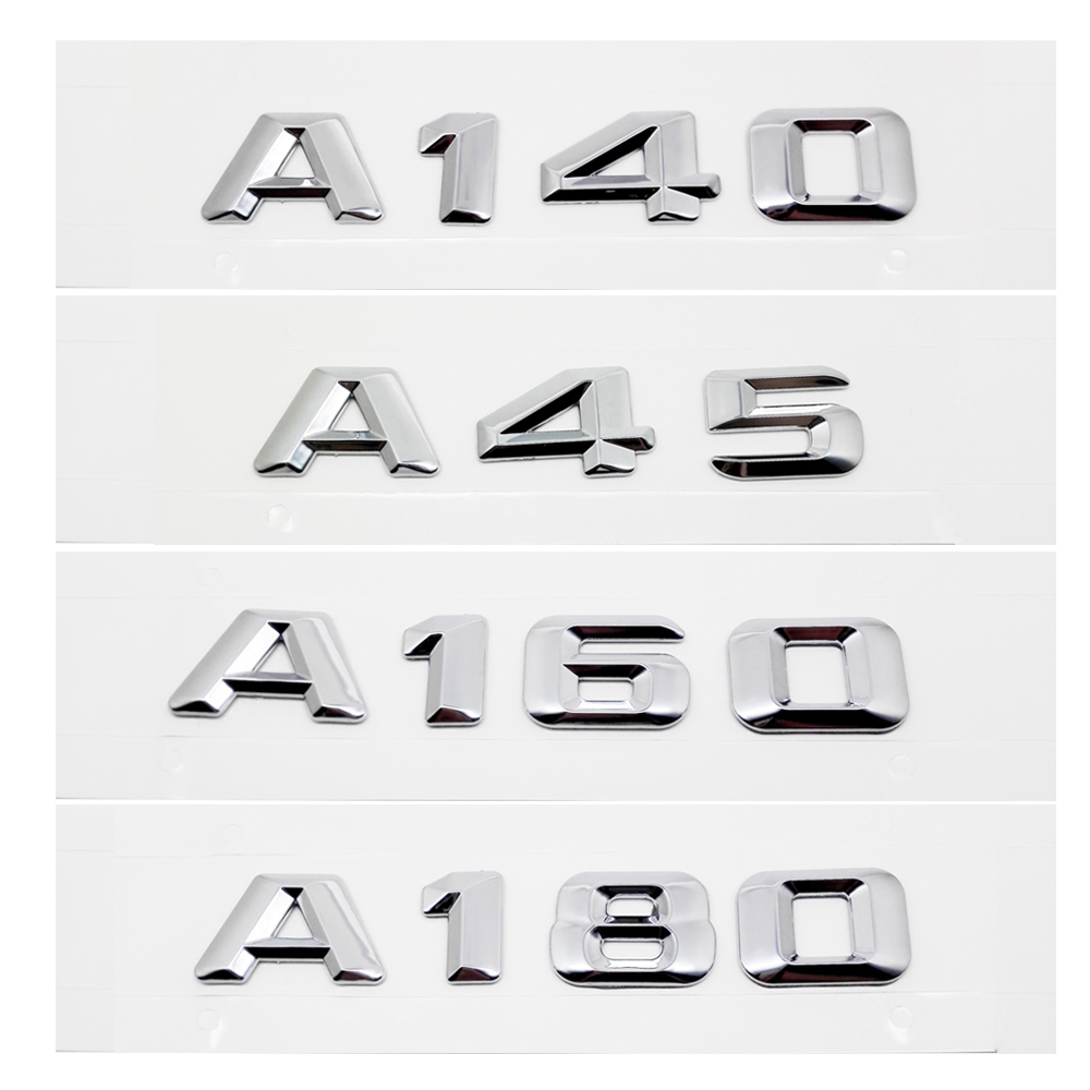 Car Rear Trunk Emblem Lettering Badge Sticker A160 A140 A45 A180 For Mercedes Benz AMG A Class W168 W169 W176 W204 W203 W211