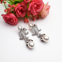 One Pair Freshwater Pearl Coin Egg White Earring Hook FPPJ Wholesale Beads 6 9mm Unique Style