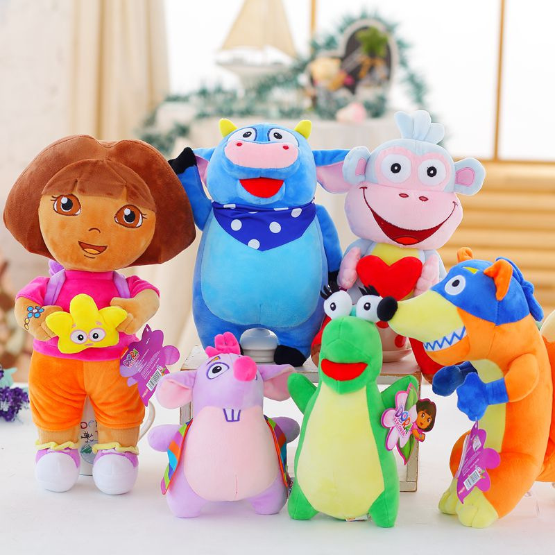 25CM/35CM/45CM Plush Toys Dora/Monkey Boots/Fox Stuffed Doll Toys Kids Toys for Childrens Gift25CM/35CM/45CM Plush Toys Dora/Monkey Boots/Fox Stuffed Doll Toys Kids Toys for Childrens Gift