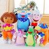 25CM/35CM/45CM Plush Toys Dora/Monkey Boots/Fox Stuffed Doll Toys Kids Toys for Children's Gift