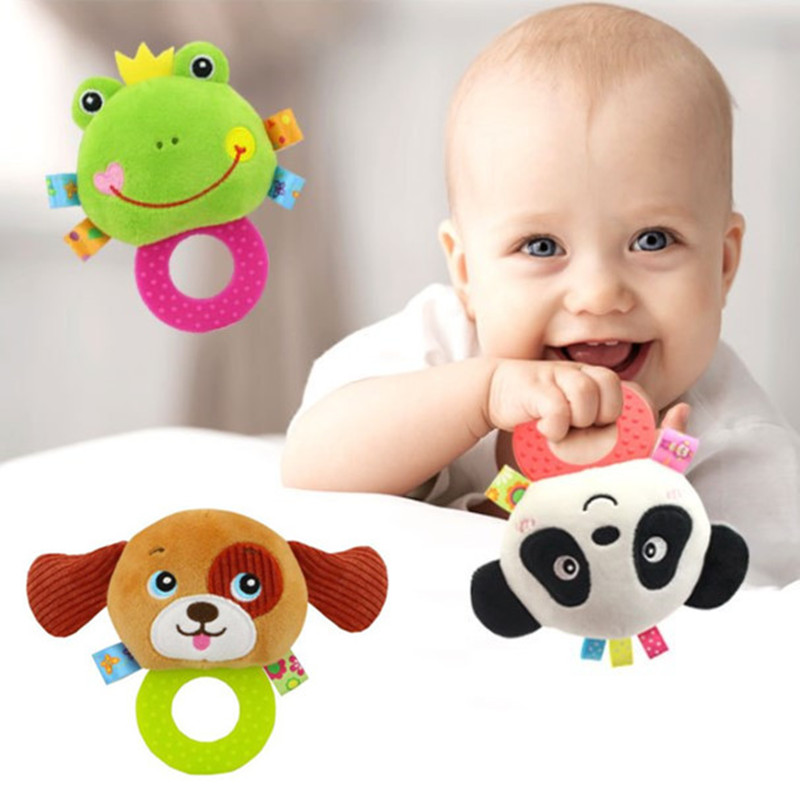 New Arrive Baby Educational Toys Plush Baby Rattle Toy Animal Hand Bells Newbron Gift Animal Designs BF09