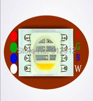 NEW RGBW 5050 SMD LED;Total 4 chips packed in cavity
