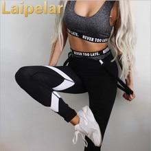 Laipelar Womens Sporting Leggings Black Print Workout Women Fitness Legging Pants Slim Jeggings Wicking Force Exercise Clothes