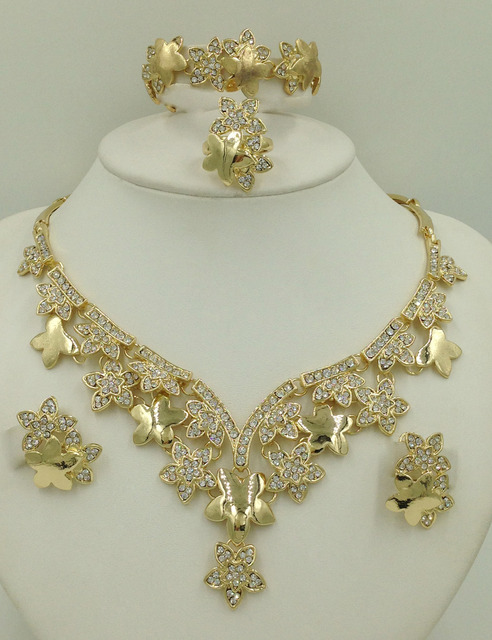 2016 Latest Haute Couture Luxury Jewelry Sets Dubai Gold Plated