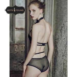 Image 2 - Bothoyung 2019 여성을위한 새로운 섹시한 란제리 레이스 수 놓은 숙녀 bralette 속옷 섹시한 푸시 업 브래지어 세트
