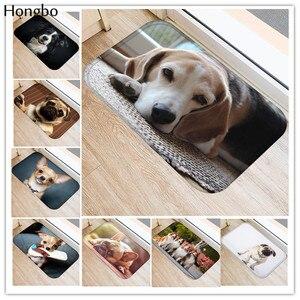 Hongbo New Creative Rugs Washable Funny Dog Doormat Bath Mats Foot Pad Home Decor Bathroom Mats Door Mat Floor Mat(China)