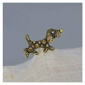 WXJCAN красивый питомец животное собака брошь собака металлическая инкрустация булавки-брошки с кристаллами винтажные Броши заколки для хидж...