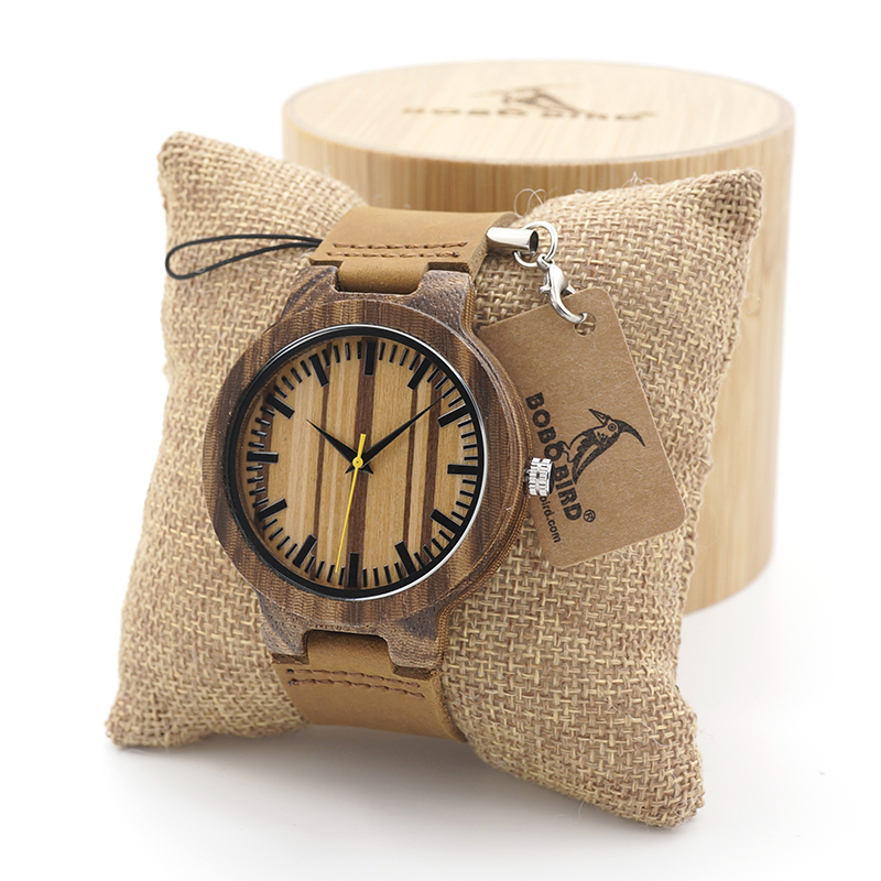 BOBO BIRD 2017 fashion men Wooden Watches Quartz Watches Japan 2035 Movement Watch in Wood Gift Box relojes hombre bobo bird wh05 brand design classic ebony wooden mens watch full wood strap quartz watches lightweight gift for men in wood box