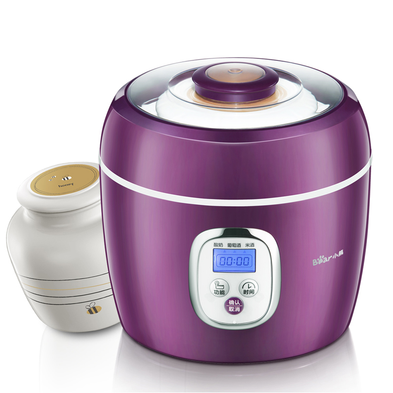 Bear Double liner set yogurt wine Wine microcomputer machine Yogurt Makers Yogurt Makers purple yogurt makers rice wine natto machine household fully automatic yogurt glass sub cup liner multifunctional kitchen helper
