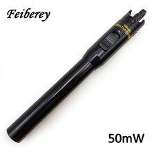 50 мВт красный лазерный светильник VFL тестер волоконно-оптического кабеля и идентификатор с защитой от Краш и пыли металлический чехол