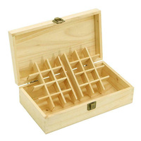 25 Slots Essential Oil Box Wooden Storage Practical Bottle Holder Professional Portable Shockproof Wear Resistant Case Organizer