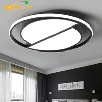 Led Ceiling Lamp with Remote Control Modern Black Ceiling Light Round Living Room Kitchen Light Fixtures Indoor Lighting Ceiling