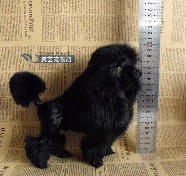 simulation poodle dog model,polyethylene&fur 22x10x20cm black poodle handicraft toy decoration Xmas gift b3817