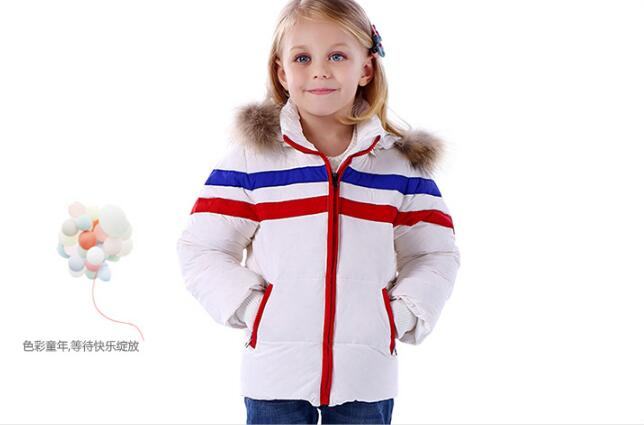 ФОТО New fashion 1-6 Years Children Winter Down Coat  Hooded Down Jacket For Girls casual Warm Kids Boys Outerwear Infant Overcoat