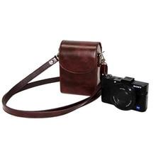 Macchina fotografica Caso di Cuoio Del Sacchetto Della Copertura per Canon Powershot G9x II G7x Mark II III SX740 SX730 SX720 SX710 SX700 SX620 SX610 SX600 HS