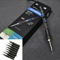 Adjustable Temperature Digital LCD Soldering Iron 90W 220V Fer A Souder Soldering Station Kit With Soldering