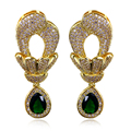 Beautiful gift 100% Top quality Gold plated Mermaid style Superstars favourites Synthetic Zirconia crystal earrings