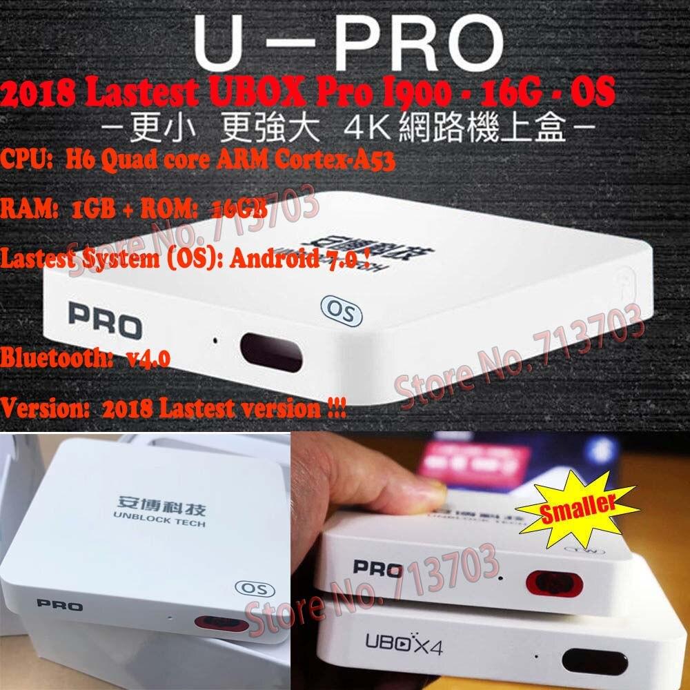 10 PCS/Lot IPTV UNBLOCK UBOX 5 UBOX PRO I900 16GB Android 7.0 Smart TV Box 1000 Asia's JP KR Sports 4K HD Free TV Live Channels iptv unblock ubox 3 standard 8gb smart android tv box
