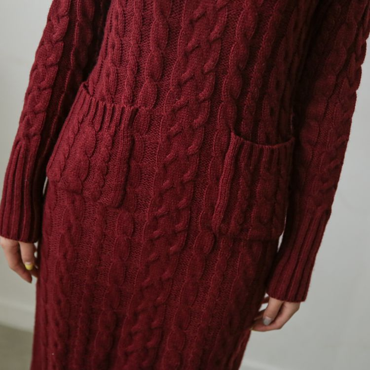OHCLOTHING 19 European winter wool knitting female thickening noble temperament self-cultivation long bottom Sweaters 15