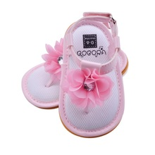 Infant Baby Girl's Summer Flower Anti-slip Soft Sole Crib Shoes 0-6 Months(China)