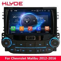 KLYDE Восьмиядерный 4G WI FI Android 8,0 7,1 4G B Оперативная память 32 ГБ Встроенная память dvd плеер автомобиля стерео gps для chevrolet Malibu 2012 2013 2014 2015 2016