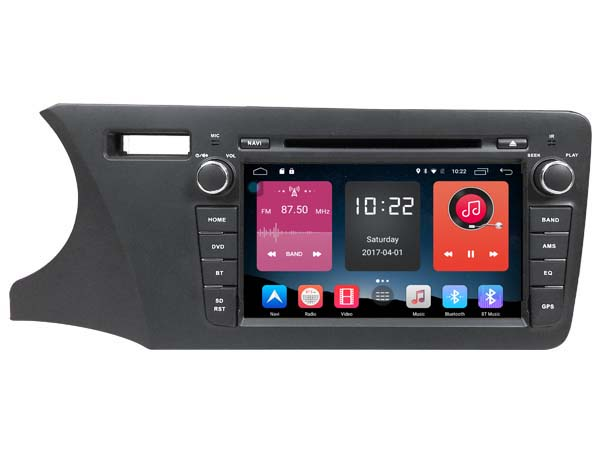 Android 6.0 CAR Audio DVD player FOR HONDA CITY 2014 LHD gps car Multimedia head device unit receiver support 4G BT WIFI