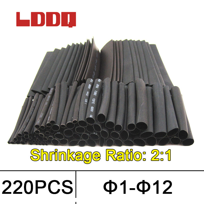 220pcs Heat shrink tubing 2:1 Heat Shrink Tube Heat sleving 1mm 2mm 3mm 4mm 6mm 8mm 10mm 12mm Cable Sleeving thermal tube emerald color 2mm 3mm 4mm 6mm 8mm 10mm 12mm 5040 aaa top quality loose crystal rondelle glass beads
