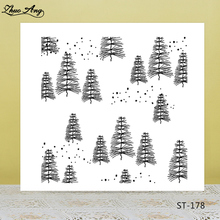 Christmas trees/pine silicone Stamp for DIY Scrapbooking/Photo Album Decorative Card Making Clear Stamps Supplies