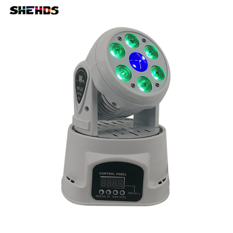LED Wash Beam 6x12W+12W RGBW Light 4IN1 14/19 Channel DMX512 Rotating Moving Head Lighting sound active for Indoor Disco PartyLED Wash Beam 6x12W+12W RGBW Light 4IN1 14/19 Channel DMX512 Rotating Moving Head Lighting sound active for Indoor Disco Party